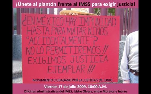PLANTÓN FTE AL IMSS 17 JUL 09.