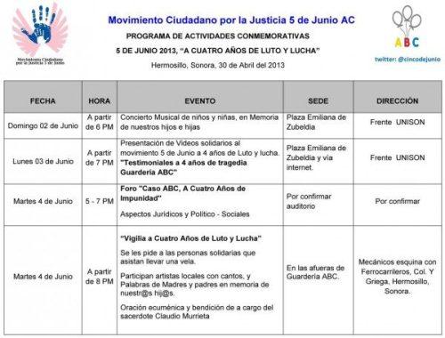 ATENTA INVITACION A EVENTOS CONMEMORATIVOS AL 4° ANIVERSARIO